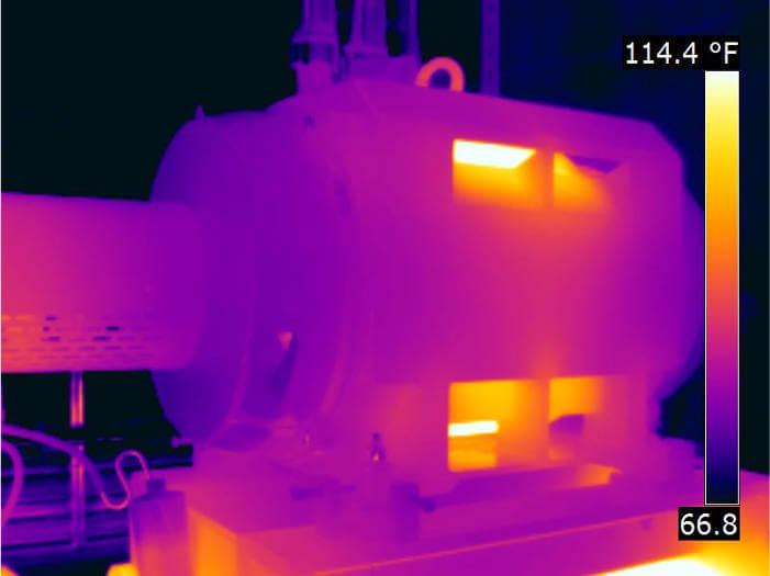 Elektrik motorlarında termal ölçüm yapılarak enerji verimliliğinin önüne geçen hatalar tespit edilir.
