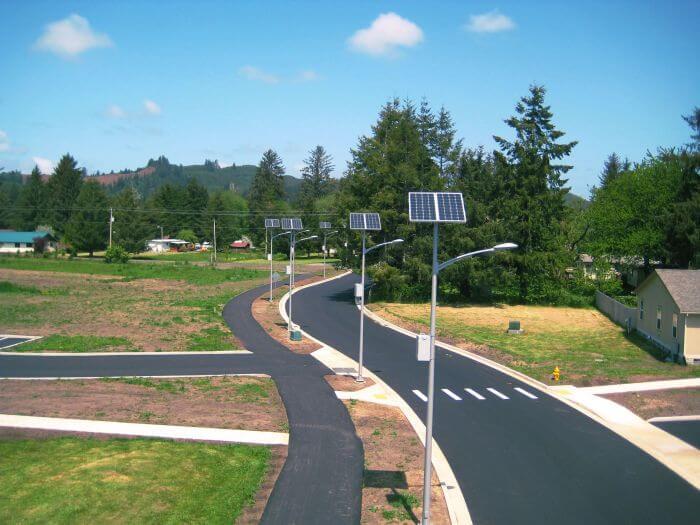 Solar aydınlatma yıldırımdan korunması