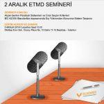 Yılkomer – Elektrik Tesisat Mühendisleri Derneği (ETMD) Ücretsiz Eğitimi 2 ARALIK'ta