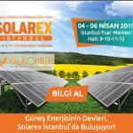 2019 GÜNEŞ ENERJİSİ FUARI SOLAREX'DEYİZ.