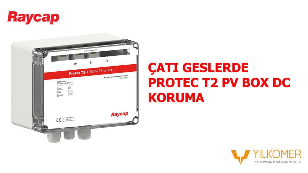 Çatı Geslerde Protec T2 PV Box DC Koruma